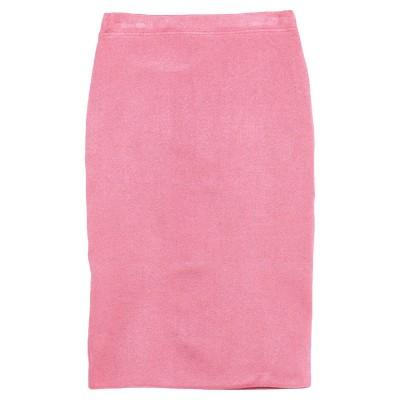 OLLA PARÉG ひざ丈スカート フューシャ 42 アセテート 84% / 指定外繊維(その他伸縮性繊維) 6% / ナイロン 5% / 金属化