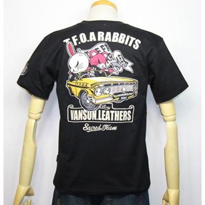 VANSON×クローズWORST (武装戦線 T・F・O・A)KKK デスラビット 車柄半袖Tシャツ CRV-913【ブラック】(1994)新作/送料無料