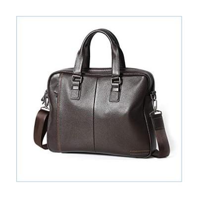 Jeenwicuoy Business Men Handbags Genuine Leather Mens Briefcase Laptop Bag Large Capacity Shoulder Messenger Bags Brown並行輸入品