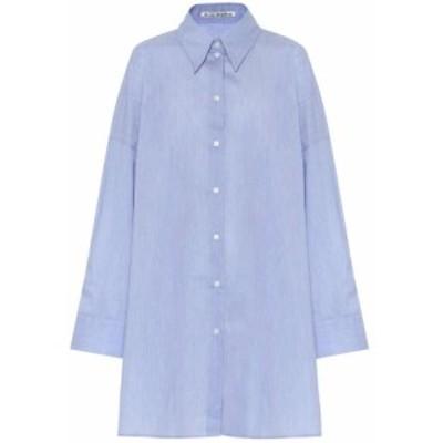 アクネ ストゥディオズ Acne Studios レディース ブラウス・シャツ トップス Oversized cotton-blend shirt Powder Blue