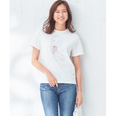 L size ONWARD(大きいサイズ)/エルサイズオンワード 【伊藤心さんコラボ】Collabo Tシャツ ホワイト系2 XL