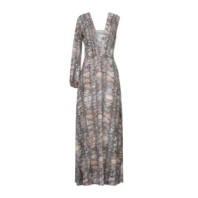 GIL SANTUCCI ロングワンピース&ドレス ベージュ 42 ポリエステル 100% ロングワンピース&ドレス