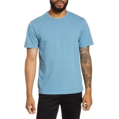 ヴィンス メンズ Tシャツ トップス Solid T-Shirt WASHED HERITAGE BLUE