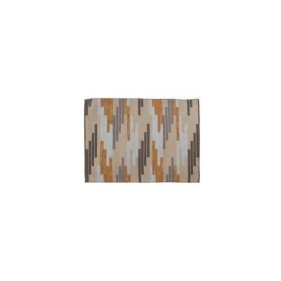 ds-1937845 ラグマット/絨毯 【130cm×90cm】 長方形 コットン製 裏面:スベリ止め加工 TTR-110C (ds1937845)