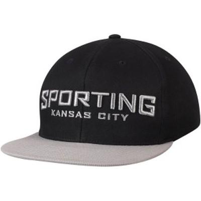 ミッチェル&ネス メンズ 帽子 アクセサリー Sporting Kansas City Mitchell & Ness Wordmark Flex Adjustable Snapback Hat Black