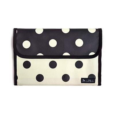母子手帳ケース ジャバラ モノトーン polka dot large(twill・white)× polka dot large(twill・blac
