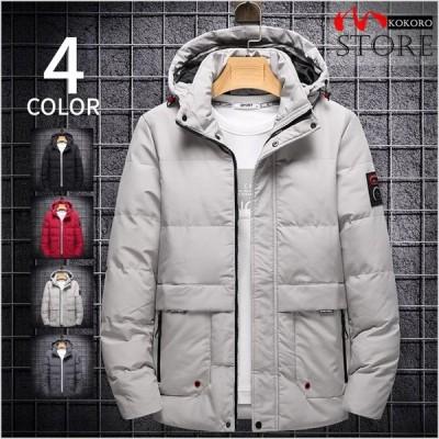 ビジネスジャケット 防寒ジャケット メンズ 中綿入り アウトドア シンプル 中綿ジャケット フード付き 無地 保温 防寒防風