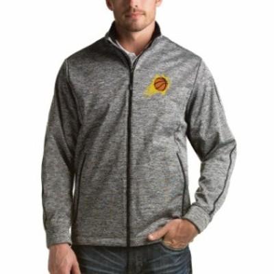 Antigua アンティグア スポーツ用品  Antigua Phoenix Suns Heathered Black Golf Full Zip Jacket
