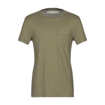 フォーティーウエフト 40WEFT T シャツ ミリタリーグリーン S コットン 100% T シャツ