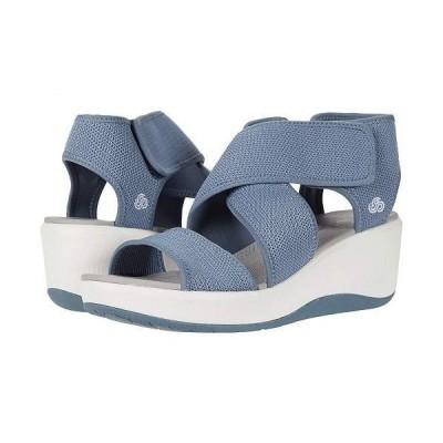 Clarks クラークス レディース 女性用 シューズ 靴 ヒール Step Cali Palm - Blue Grey Textile