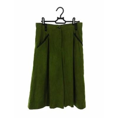 【中古】ケイコスズキコレクション keiko suzuki collection パンツ ガウチョ スカーチョ 40 緑 グリーン /AKK34