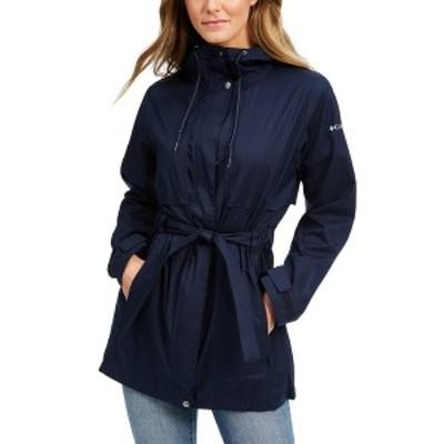 コロンビア レディース ジャケット&ブルゾン アウター Women's Pardon My Trench Water-Resistant Rain Jacket Dark Nocturnal