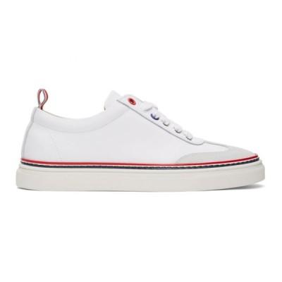 トム ブラウン Thom Browne レディース スニーカー シューズ・靴 White Calfskin Sneakers White