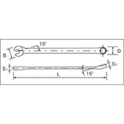 SIGNET(シグネット) 整備工具 スパナ/レンチ 超ロングコンビネーションレンチ 10mm 30510
