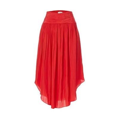平行輸入品 Ramy Brook レディース Jessy ミディスカート スリット付き US サイズ: X-Small カラー: レッド