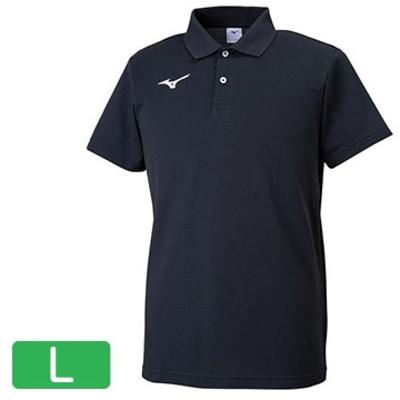 ■ポロシャツ ブラック×ホワイト【ユニセックス】 サイズ:L 32MA919509L