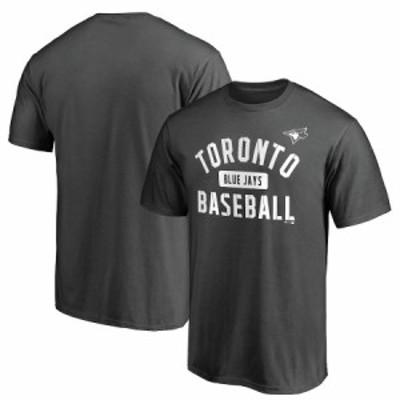 """ファナティックス メンズ Tシャツ """"Toronto Blue Jays"""" Fanatics Branded Iconic Primary Pill T-Shirt - Charcoal"""
