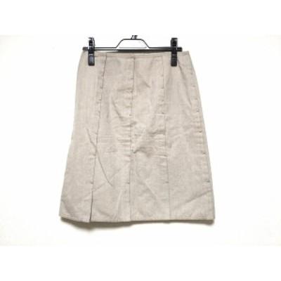 ランバンコレクション LANVIN COLLECTION スカート サイズ38 M レディース - ベージュ ひざ丈【中古】20201123