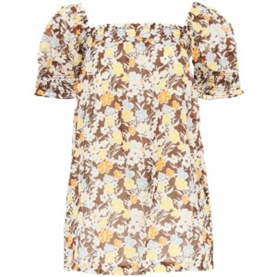 TORY BURCH/トリー バーチ Mixed colours Tory burch floral cotton mini dress レディース 春夏2021 82025 ik