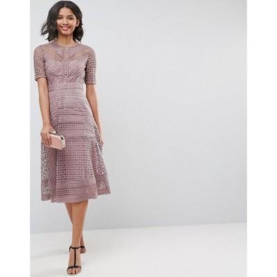 エイソス レディース ワンピース トップス ASOS PREMIUM Occasion Lace Midi Dress