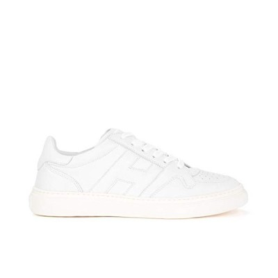 Hogan H365 White Leather Sneaker with Perforated Leather 6,5(UK)-7?(US) White 並行輸入品