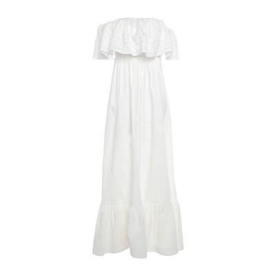 ブルーガール ブルマリン BLUGIRL BLUMARINE ロングワンピース&ドレス ホワイト 42 コットン 97% / ポリウレタン 3% /