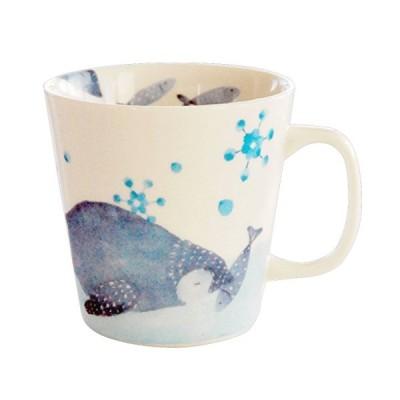 セラミック藍 海のなかま マグカップ ペンギン サイズ:約φ9 H9 15202