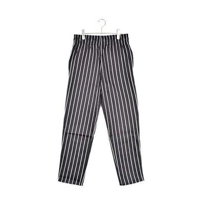 [Cookman/クックマン]Waiter's Pants StripeBlack (StripeBlack, L)