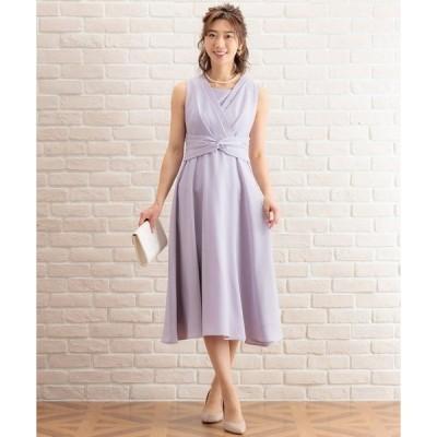ドレス ロング丈フレアーライン・カシュクールワンピース(ドレス)