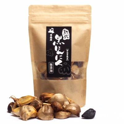 日本一と名高いホワイト六片の熟成黒にんにく 青森県産 宇治茶発酵 無添加 バラタイプ (約1カ月分)
