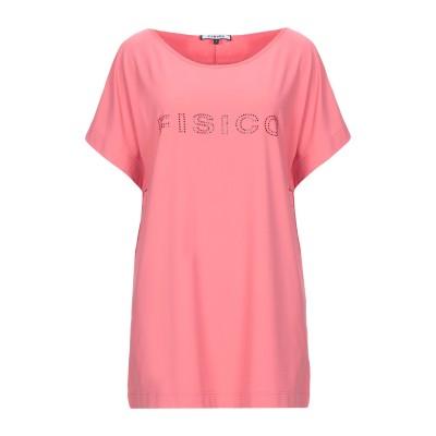 FISICO T シャツ サーモンピンク S ナイロン 86% / ポリウレタン 14% T シャツ