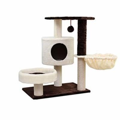 キャットタワー ハンギングボール子猫家具スクラッチ猫クライミングフレー (新古未使用品)