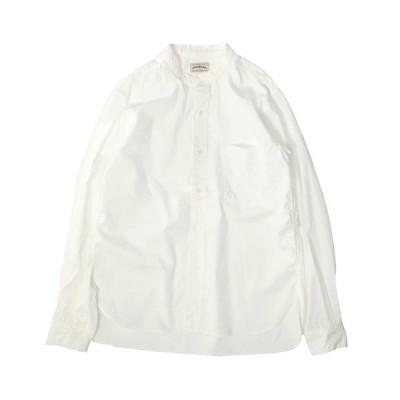 シャツ ブラウス [SPELLBOUND / スペルバウンド] ホワイトシャンブレー スタンドカラーシャツ