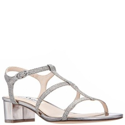 ニナ レディース サンダル シューズ Gelisa Block Heel Sandals Steel Grey Metallic