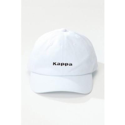 【イッカ】 Kappa ツイルローキャップ メンズ ホワイト フリー ikka