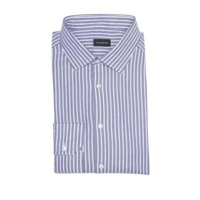 エルメネジルド・ゼニア メンズ シャツ トップス Stripe Print Long Sleeve Shirt DK BLUSTRP