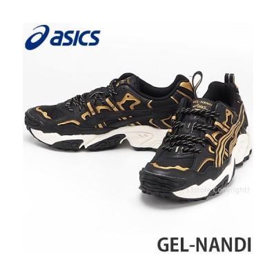 アシックス ゲル ナンダイ asics GEL-NANDI スニーカー シューズ 靴 メンズ トレイル ストリート ファッション カラー:BLACK/PURE GOLD