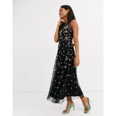 フロック レディース ワンピース トップス Frock & Frill sleeveless embroidered midi dress