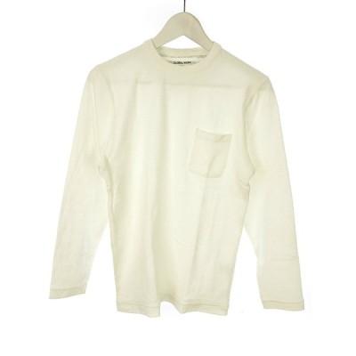 【中古】グローバルワーク GLOBAL WORK Tシャツ カットソー S オフホワイト 白 ロンT 長袖 トップス メンズ 【ベクトル 古着】