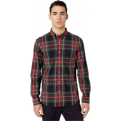 ジェイクルー J.Crew メンズ シャツ トップス Slim Stretch Secret Wash Shirt in Stewart Tartan Organic Cotton Black Stewart Tartan