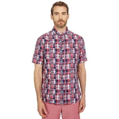 サウザーンタイド シャツ トップス メンズ ST USA Patchwork Short Sleeve Sport Shirt Poppy Red