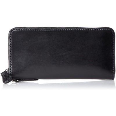 [ノマドイ] アラバマ ラウンドファスナー長財布シングル NAMW2AT1 ブラック