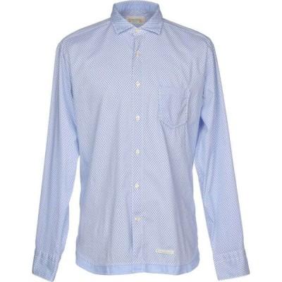 ティントリア マッティ TINTORIA MATTEI 954 メンズ シャツ トップス patterned shirt Sky blue