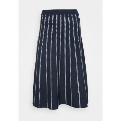 マイケルコース スカート レディース ボトムス CHAIN SKIRT - A-line skirt - dark blue