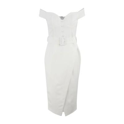 LAVISH ALICE 7分丈ワンピース・ドレス ホワイト 10 ポリエステル 90% / ポリウレタン 10% 7分丈ワンピース・ドレス
