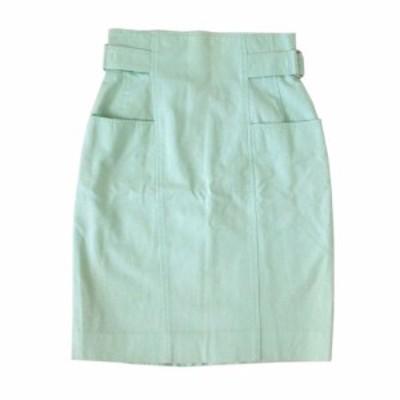 courreges クレージュ コットンデザインスカート (ライムグリーン) 104662【中古】