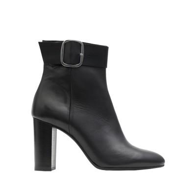 LEONARDO PRINCIPI ショートブーツ ブラック 38 牛革(カーフ) 100% ショートブーツ
