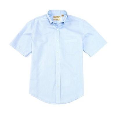 ラウンドトゥリーアンドヨーク メンズ シャツ トップス Gold Label Roundtree & Yorke Perfect Performance Short-Sleeve Non-Iron Solid Dobby Sportshirt