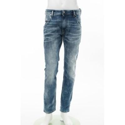ディーゼル DIESEL ジーンズパンツ デニム ダメージデニム クラッシュデニム KROOLEY-T Sweat jeans ブルー メンズ (00SE2S 087AC) 送料