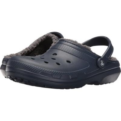 クロックス Crocs レディース クロッグ シューズ・靴 Classic Lined Clog Navy/Charcoal